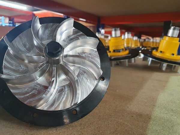 Secomak Impeller CNC Machined from Solid Aluminium